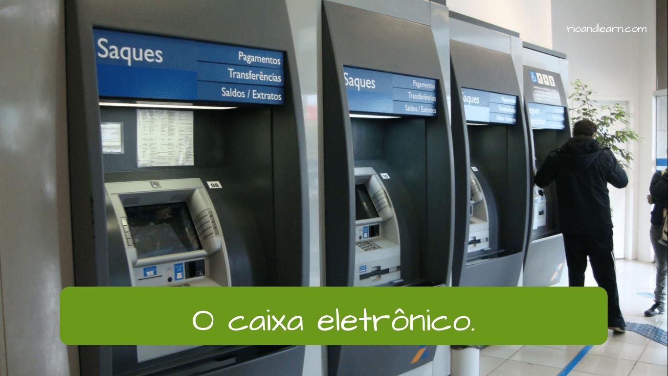 Ejemplo de Vocabulario de Banco en Portugués.