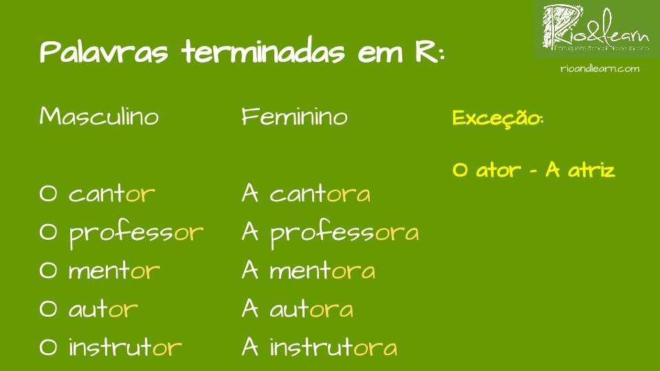 5 letter words ending in la gender in portuguese a dica do dia free portuguese classes 16361