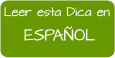 Leer esta Dica en Español