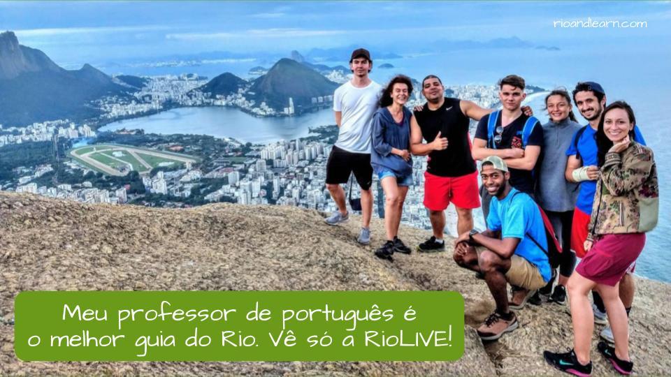 Palabra con cambio de significado según el artículo en portugués: O guia. Ejemplo: Meu professor de português é o melhor guia do Rio. Vê só a RioLIVE!