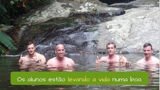 Ejemplo el verbo llevar en Portugués.