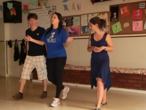 Portuguese Students learning Samba