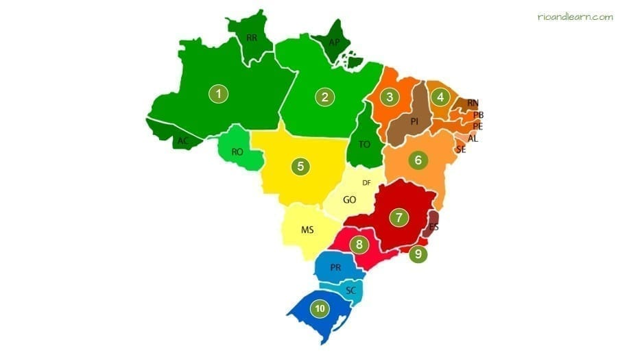 quiz estados e capitais do Brasil. Brazil States Quiz