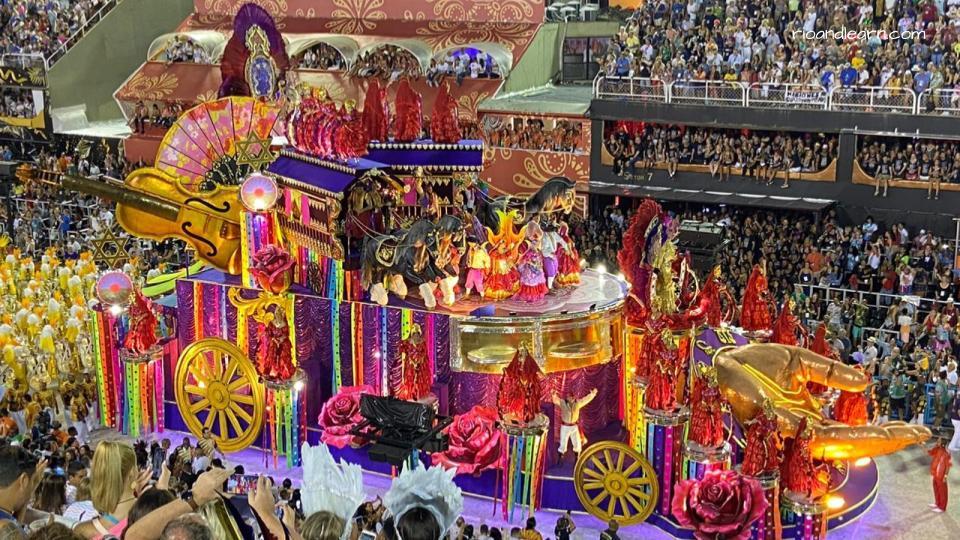 Samba Parade in Rio de Janeiro.