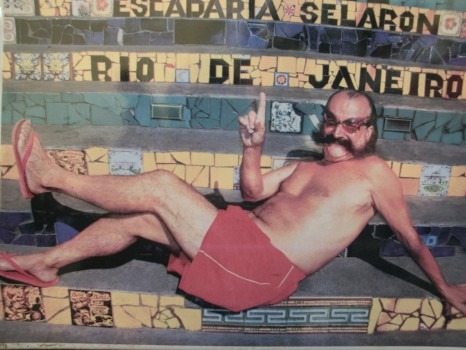 Jorge Selarón: artista construtor das escadarias da Lapa.