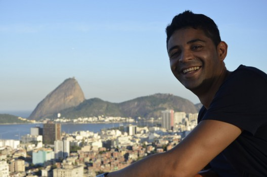 In Santa Teresa, Portuguese student Ricardo, from Ecuador.