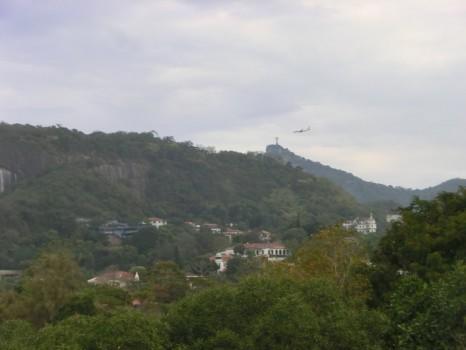 A vista para o Corcovado.