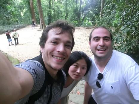 Curtindo o Parque Lage com os estudantes estrangeiros de português.