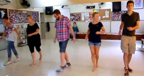 Samba classes with Portuguese foreign students.