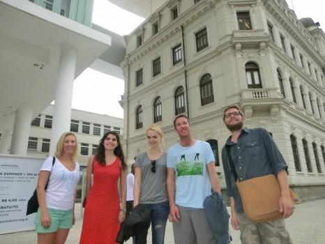 Museu do Arte do Rio with foreign Portuguese language students.