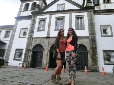 Estudantes estrangeiras de português no Mosteiro de São Bento.