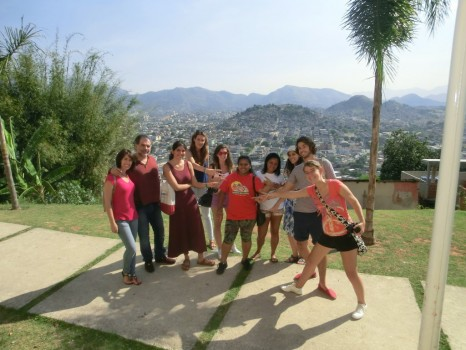 Portuguese students discovering Favela Complexo do Alemão with local guides