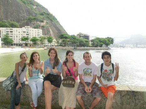 Walking through Urca with our Portuguese Students