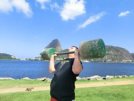 Malhando e aprendendo português em Botafogo