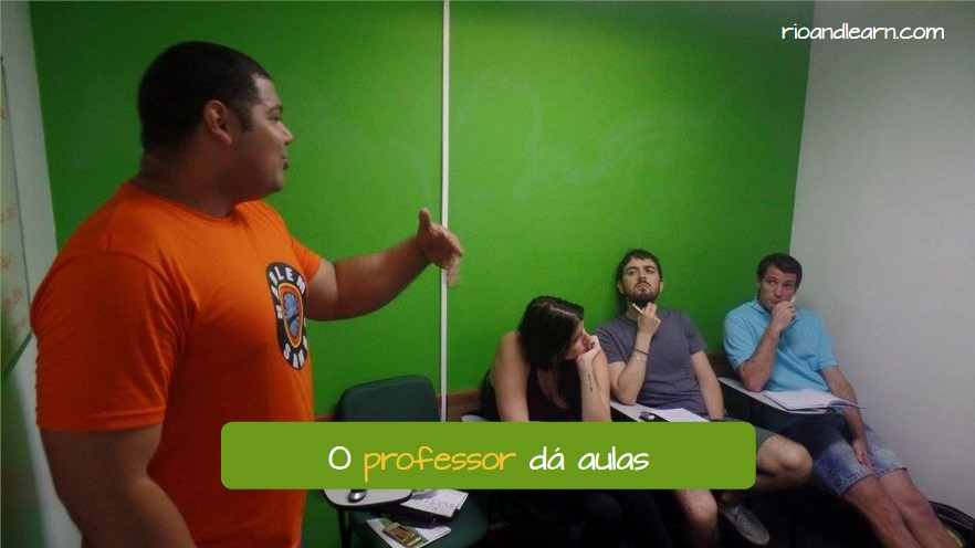 What do you do. O professor dá aulas