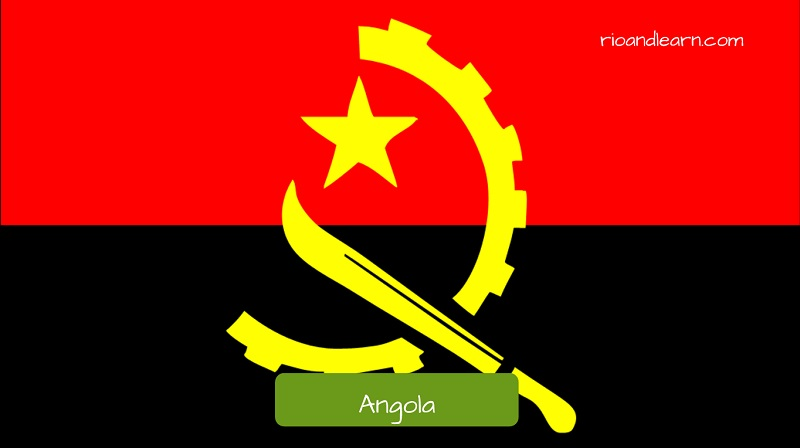 countries that speak portuguese in the world: Angola's flag