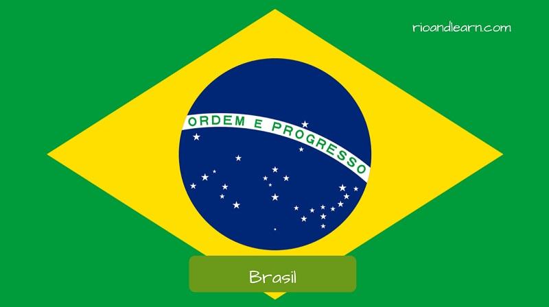 Países que falam português no mundo: Bandeira do brasil