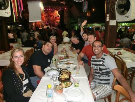 Dinner at Feira de São Cristóvão with Portuguese students