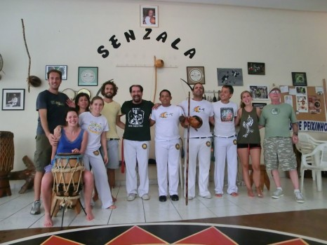 Our Portuguese students after learning Capoeira with Grupo Senzala and Mestre Toni