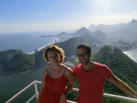 Relaxing at Pão de Açúcar, some of the best Rio views.