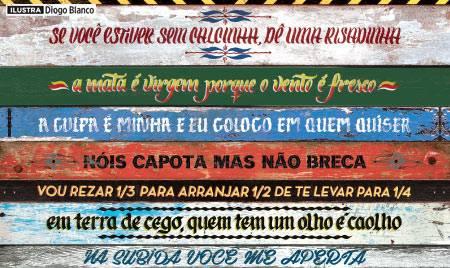 Frases ingeniosas en camiones de Brasil en Portugués.