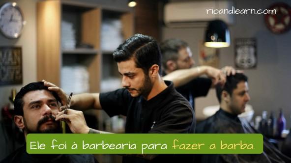 Frase con la palabra barbería en portugués: Ele foi à barbearia para fazer a barba.