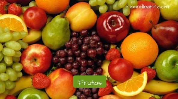 Vocabulario para desayuno en portugués: Frutas