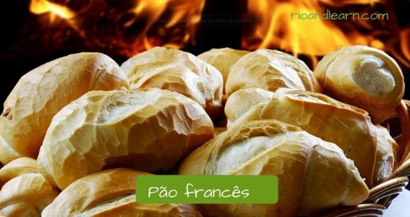 Typical breakfast in Brazil: Pão francês.