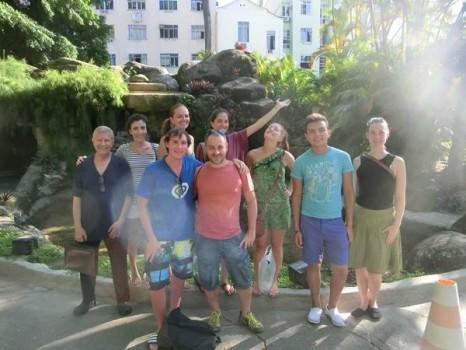Estudantes de visita no Museu e Parque do Catete