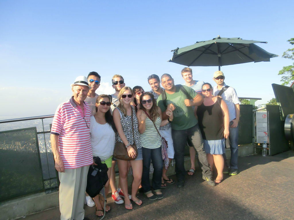 At the top of Corcovado with our Portuguese language students.