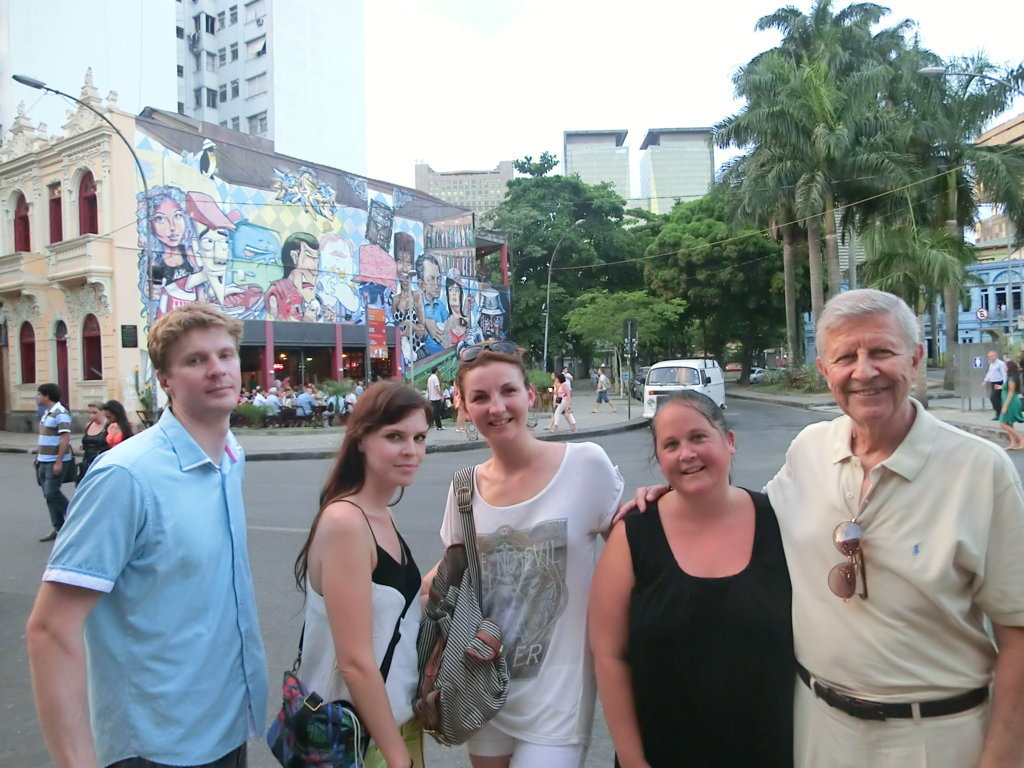 Our Portuguese students taking pics at Lapa.