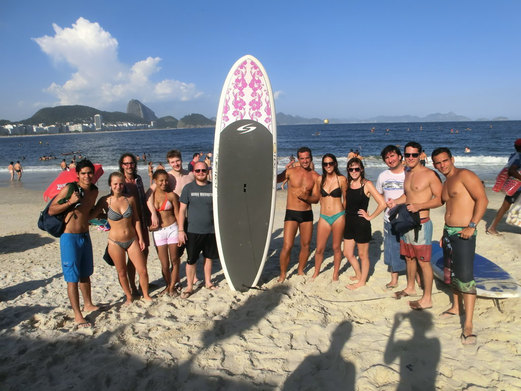 Stand Up at the beach with Portuguese foreign students