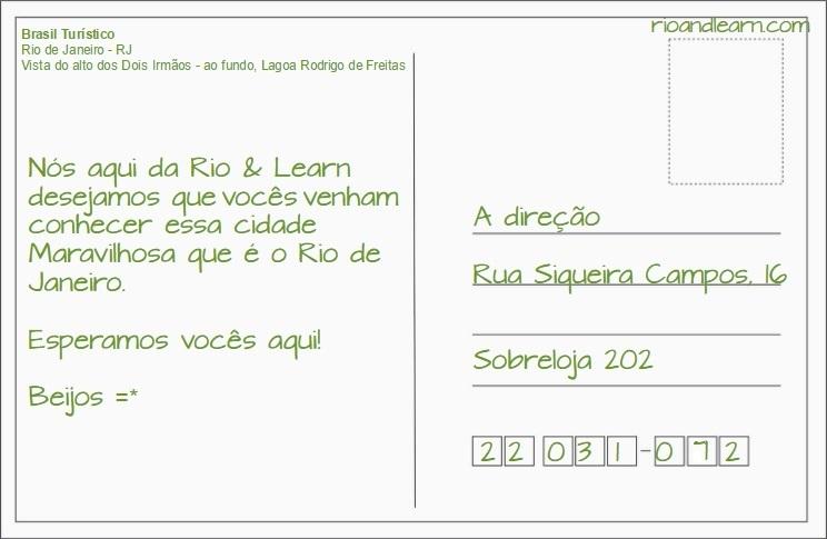 how to write a postcard in portuguese a dica do dia
