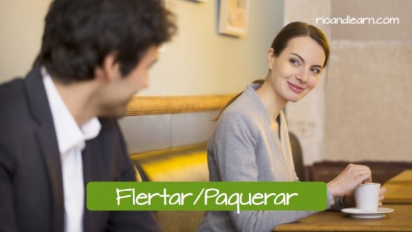 How to flirt in Brazilian Portuguese. Flertar has the same meaning of Paquerar.