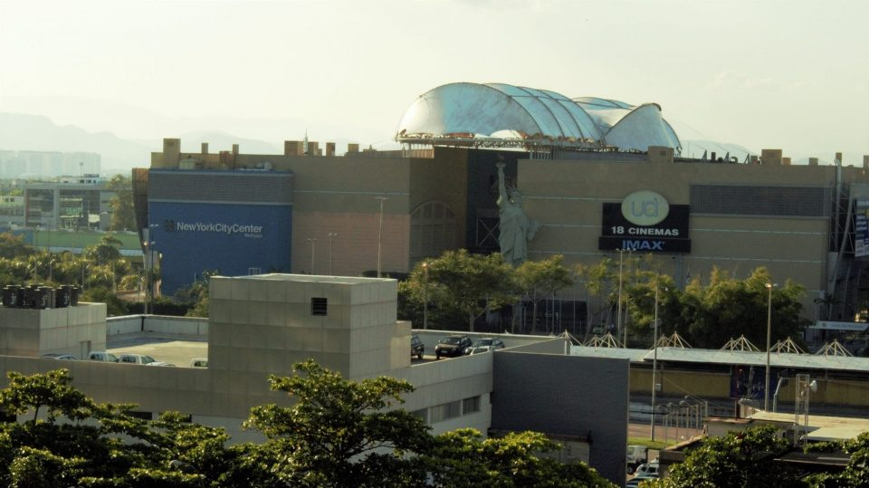 Shopping in Brazil. Picture of the exterior of New York City Centre Shopping Mall in Barra da Tijuca in Rio de Janeiro, Brazil.