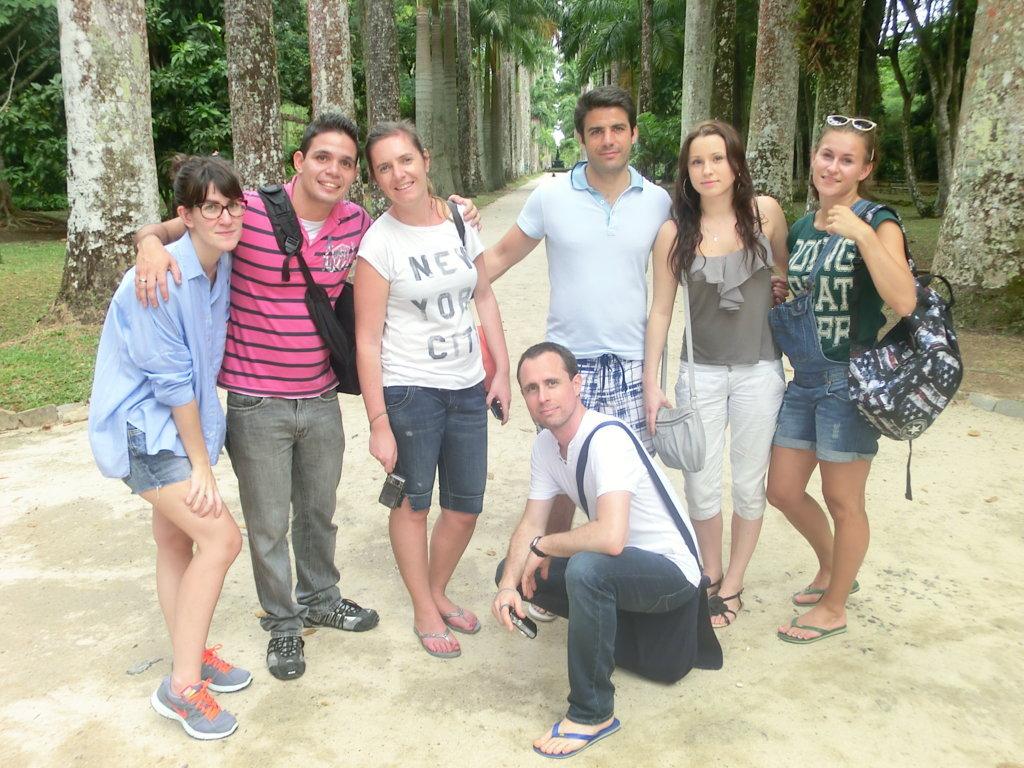 Tarde no Jardim Botânico com alunos estrangeiros