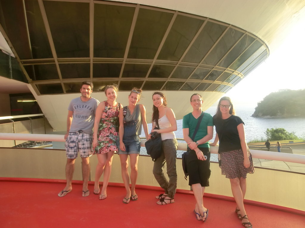 Portuguese students enjoying Niterói views