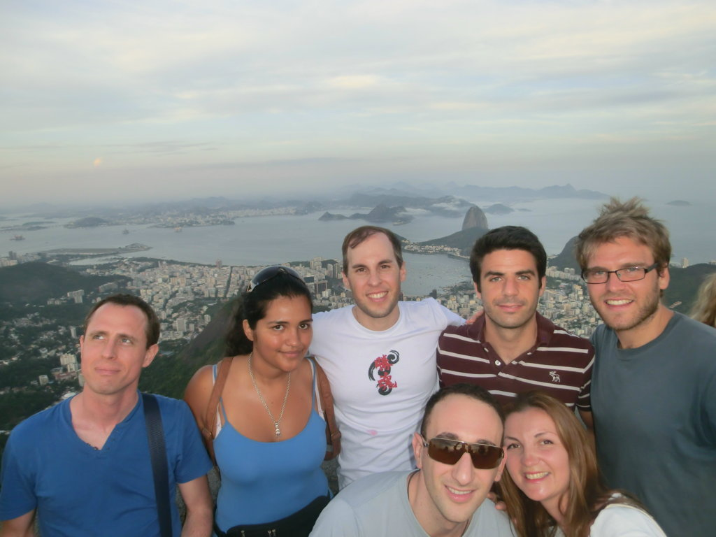 Rio de Janeiro from Christ the Redeemer and our group of students