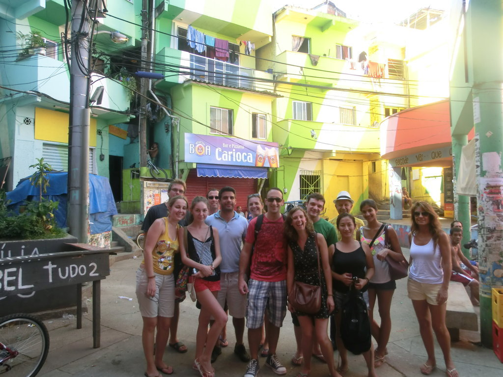 Dona Marta, Praça Cantão with our foreign Portuguese language students.