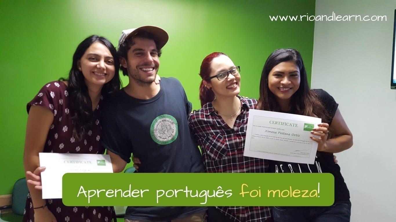 Expressões informais em português. Aprender português foi moleza!