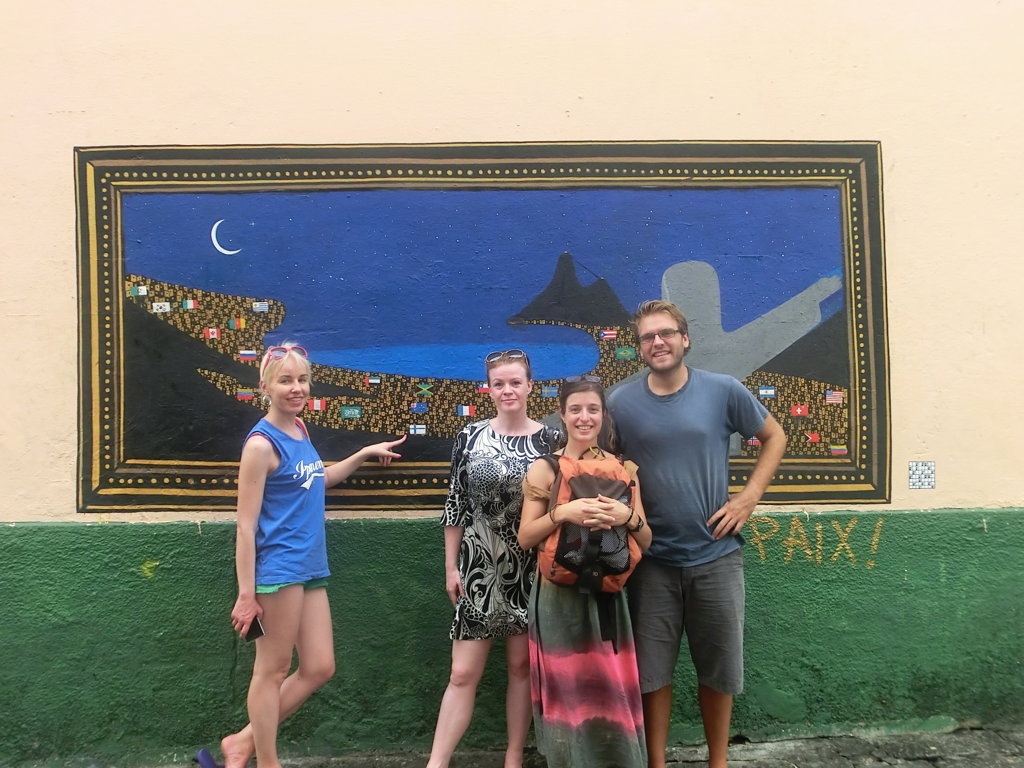 Sta Teresa and Lapa at Rio de Janeiro with Portuguese language students.