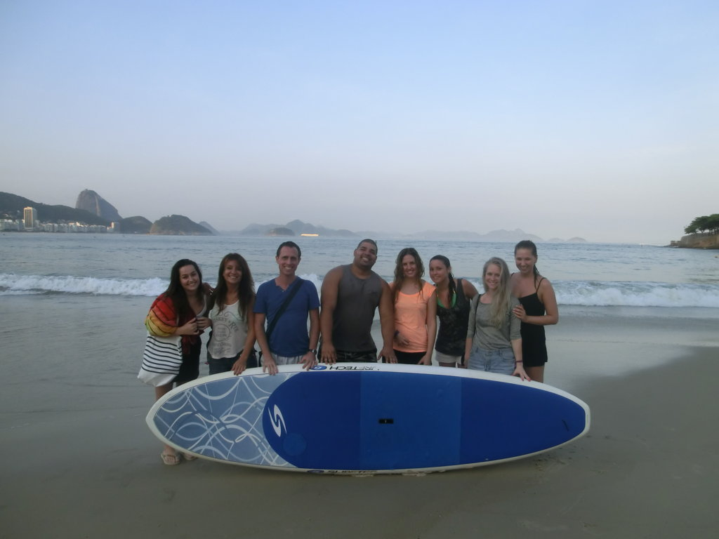 Surfing in Copacabana and enjoying the beach