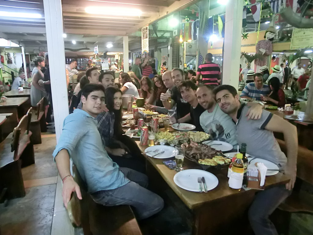 Northeastern fair dinner at Feira do Nordeste do Rio