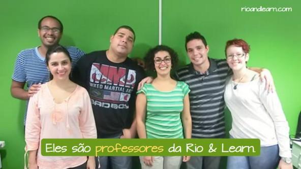 Profissões Populares no Brasil. Eles são professores na Rio & Learn.