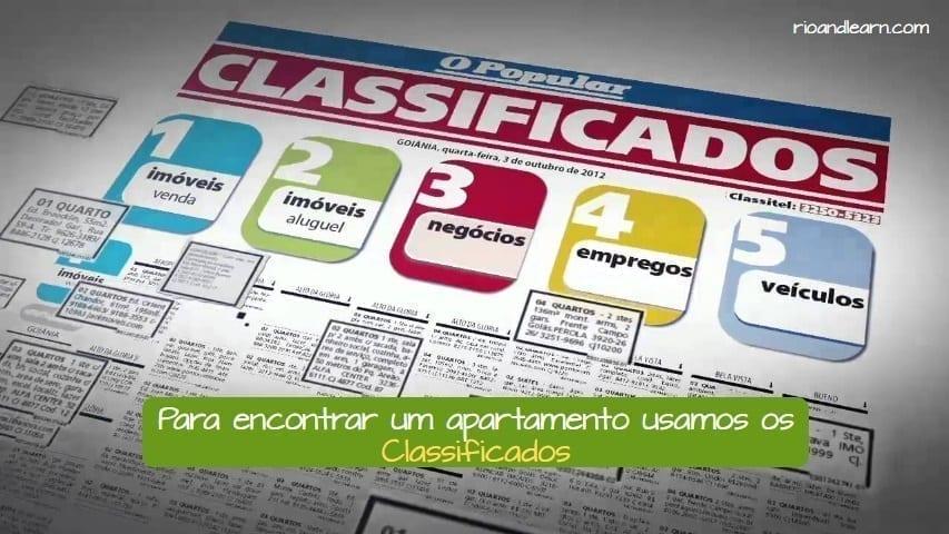 Como alquilar en Brasil: Para encontrar um apartamento no Brasil usamos os Classificados.
