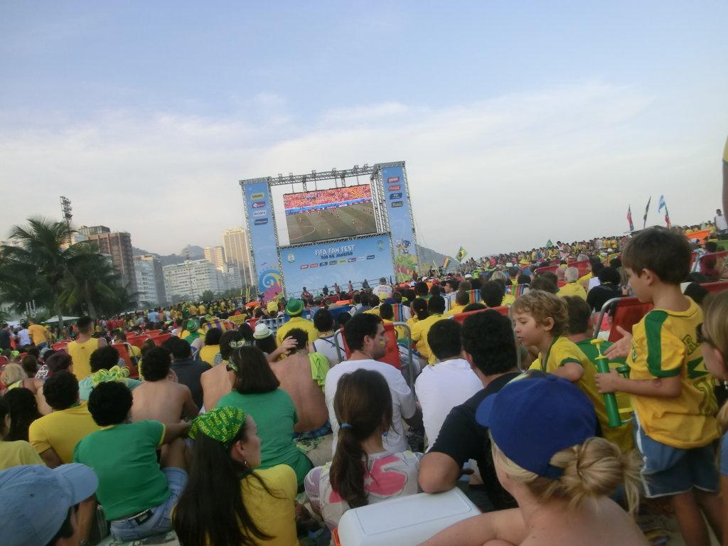 World Cup in Copacabana's beach