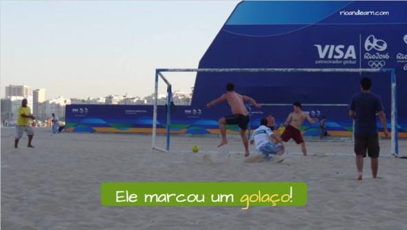 Ejemplo de palabras de Fútbol en Portugués: Golaço: Golazo