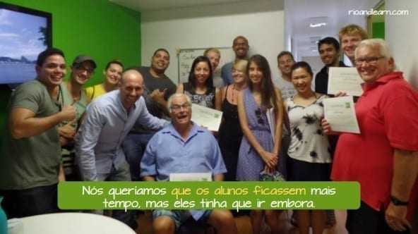 Imperfect Subjunctive in Portuguese. Nós queríamos que os alunos ficassem, mas eles tinham que ir embora.