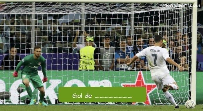 Gol de penalty en portugués