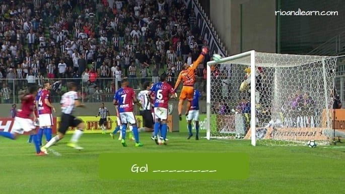 Gol olímpico en portugués.